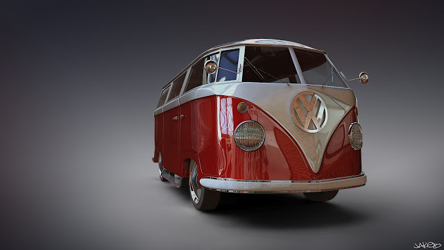 Red VW Jaked3d