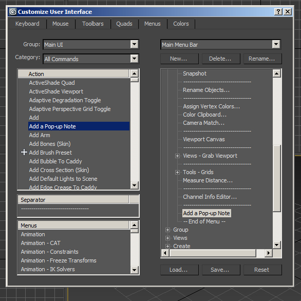 Add Pop Up Notes in 3ds Max Step 5