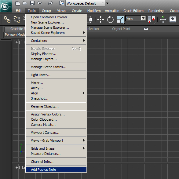 Add Pop Up Notes in 3ds Max Step 8