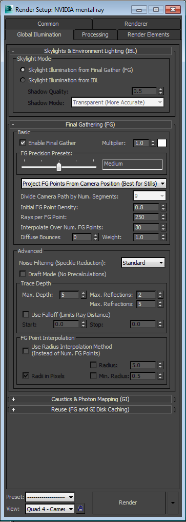Render Settings