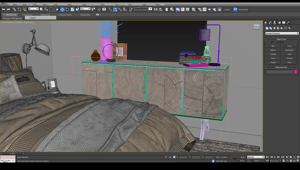 Populating the Scene Quick  - You'll get the inside knowledge on how to bring furniture and props into your scene and how to create wooden plank flooring like the pros. I am going to show you all the scripts and plug ins for 3Ds Max to speed up your work flow.