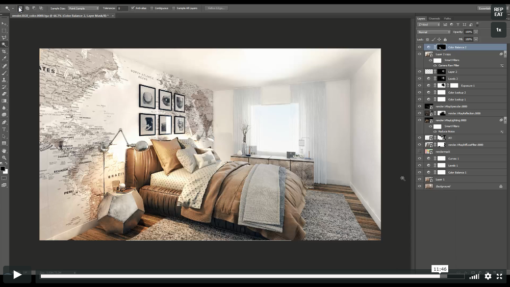 Render and Post Like a Professional - You'll know how to use Vray to make your renders look even better. Then how to render out high quality images and finally how to use Photoshop to add the finishing touches to your very own 3D render.