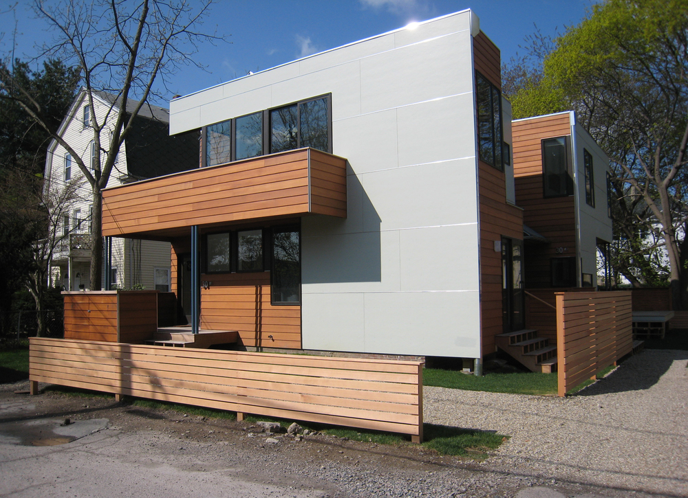 The finished product was a modern interpretation of the original house, fitting seamlessly into the neighborhood.