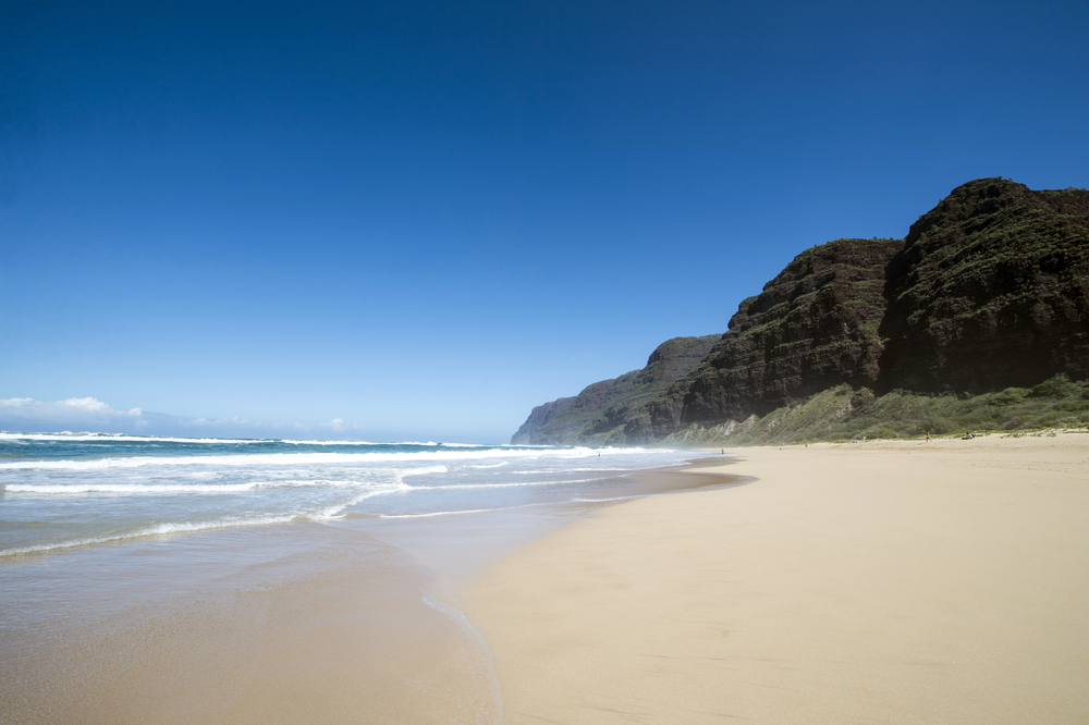 How I visualize being grounded: The integrated harmony of land, sea, and sky at Polihale Beach in Kauai, Hawaii.