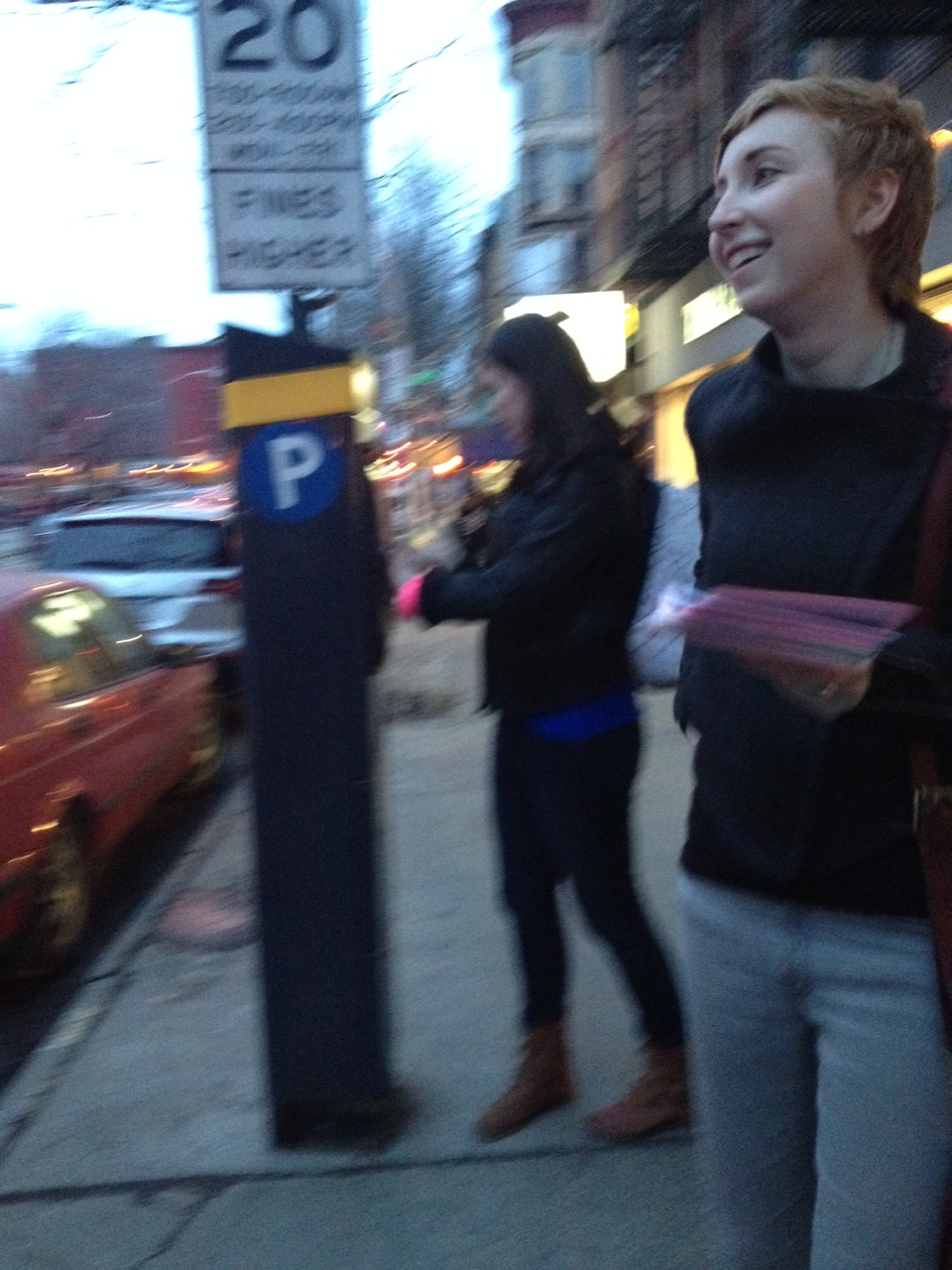 Maddd grrrls gone wildposting in Park Slope, Brooklyn. Photo by Jillian Haney.