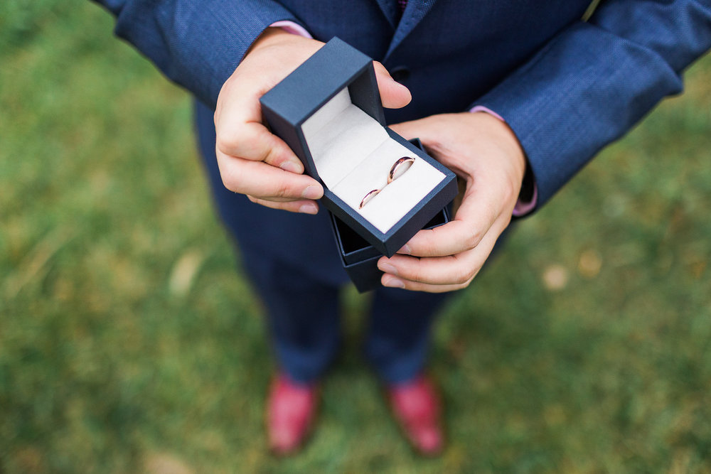 Groom holding the rings at a Small Wedding in Canberra