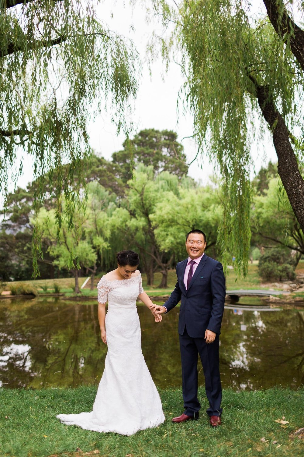 Canberra Small Wedding by the ponds in Western Park