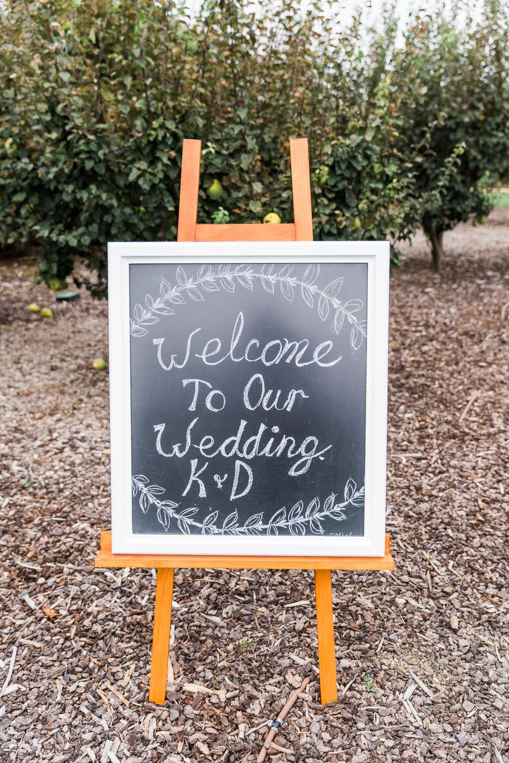 Wedding Welcome Sign - Pialligo Estate Canberra
