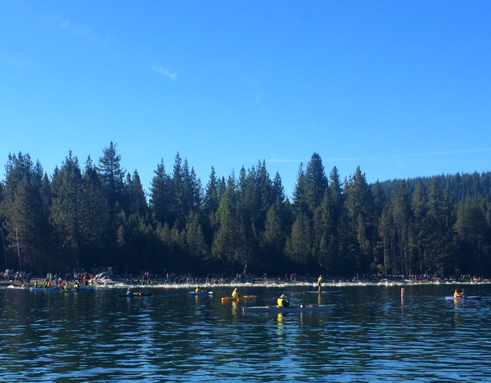 Here is the start as it appeared from a support-boat. Photo credit: Rich Staley