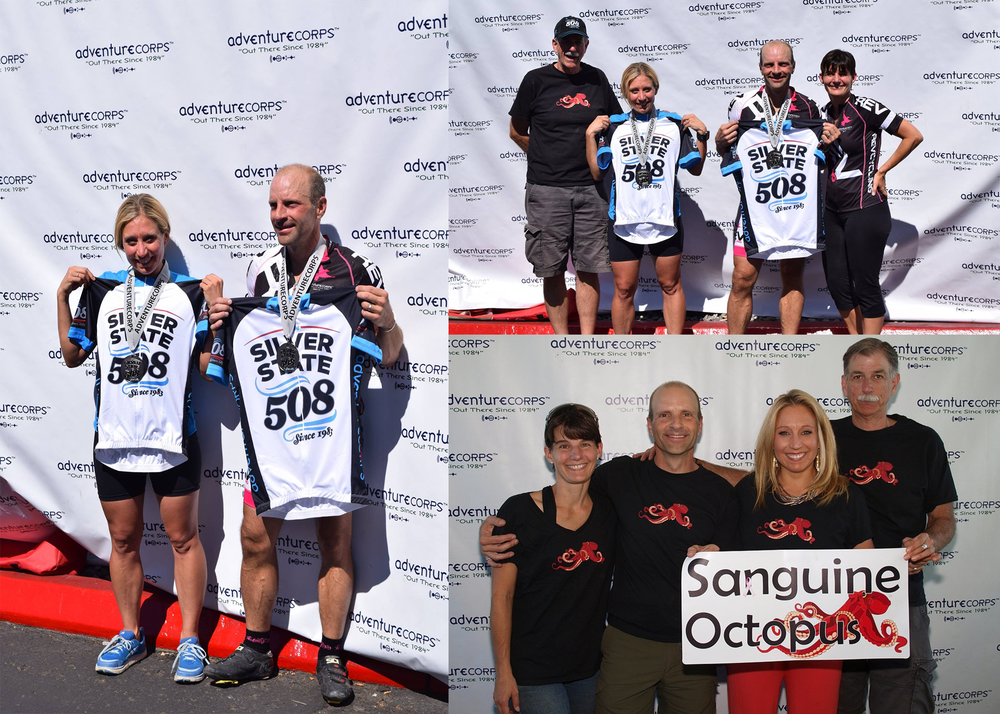 Team Sanguine Octopus claims first in the 2-mixed division due to their athleticism, good-looks, sanguine-attitude and to their incredible support team Stacey Tinianov and Dave Machan.