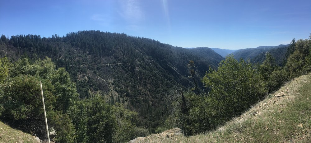 A pano of the road we climbed and descended. The image really doesn't do justice to how beautiful it was there, or how long that climb really was.