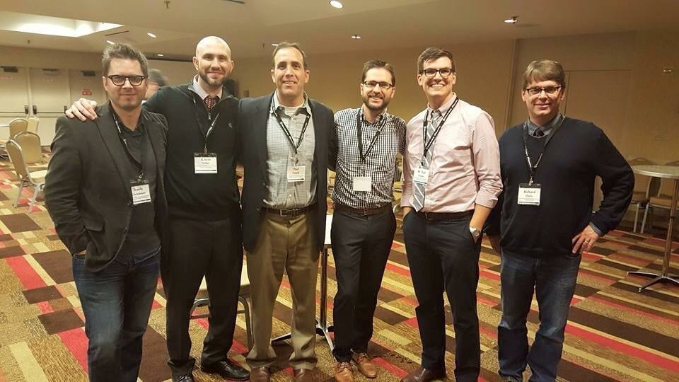 Always love the opportunity for the philosophy departments from Tyndale and Southwestern Baptist Theological Seminary to reconnect. (Pictured: Travis Dickinson, Keith Loftin, Paul Gould, Ross Inman, me, and Rich Davis)