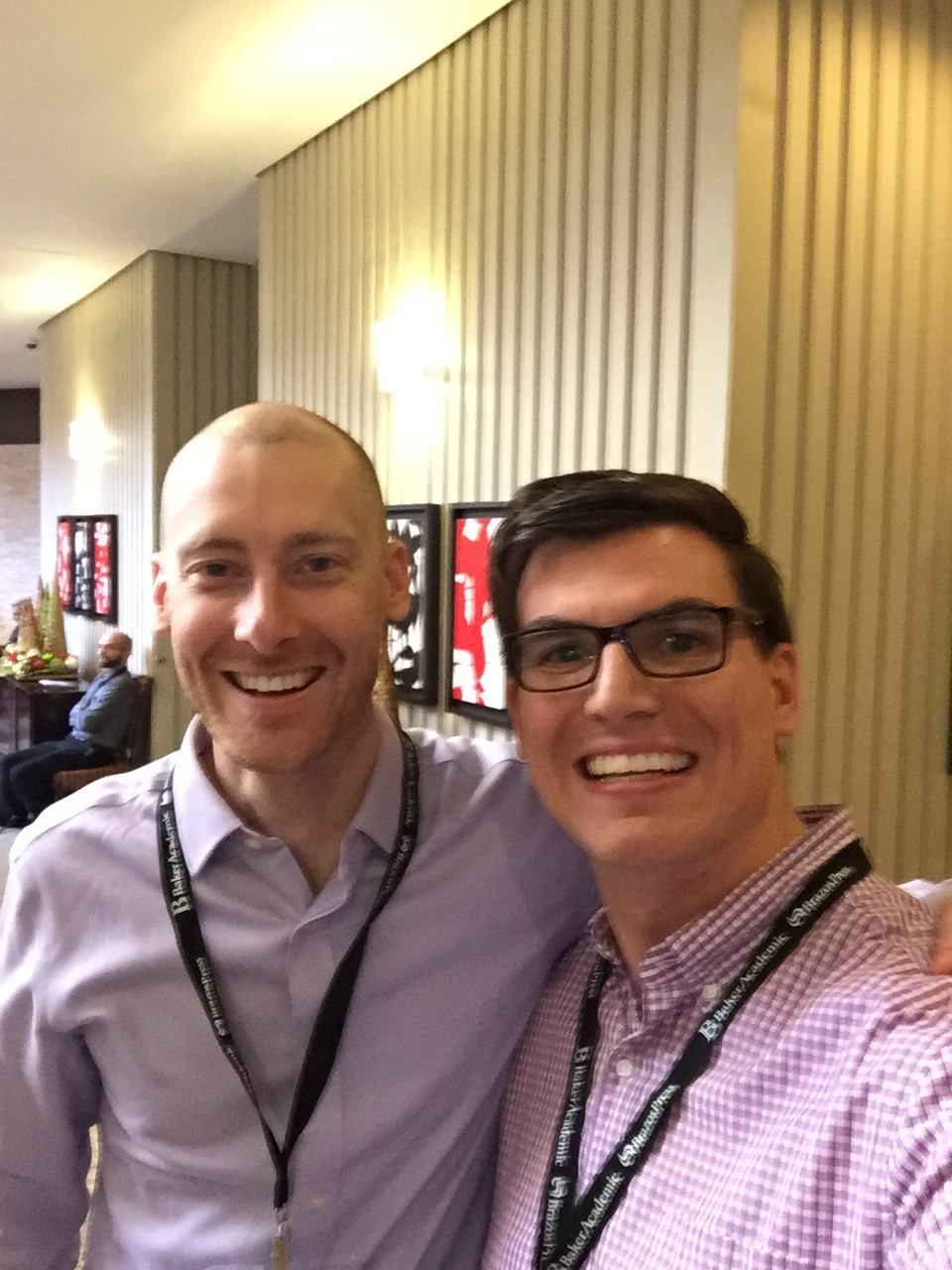 Had to grab a selfie with my friend, and Stand to Reason's newest apologist, Tim Barnett. If nothing else, it was our way of proving to our (pregnant) wives that we did indeed go to the conference.