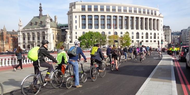 Healthy commuting on London's new cycle superhighways – a radical public health intervention (photo TfL)