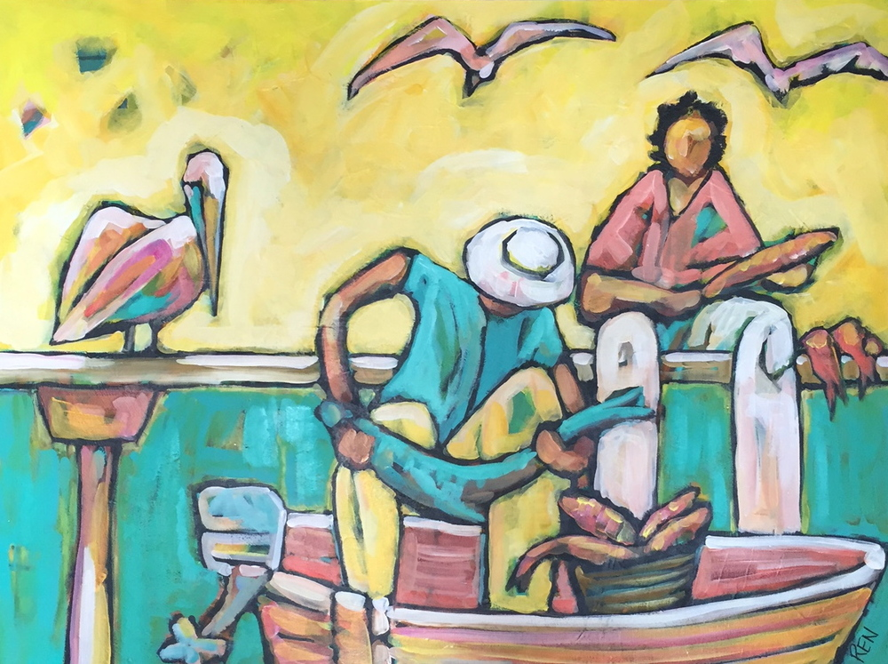 Days catch Animal Portait Painting.jpg