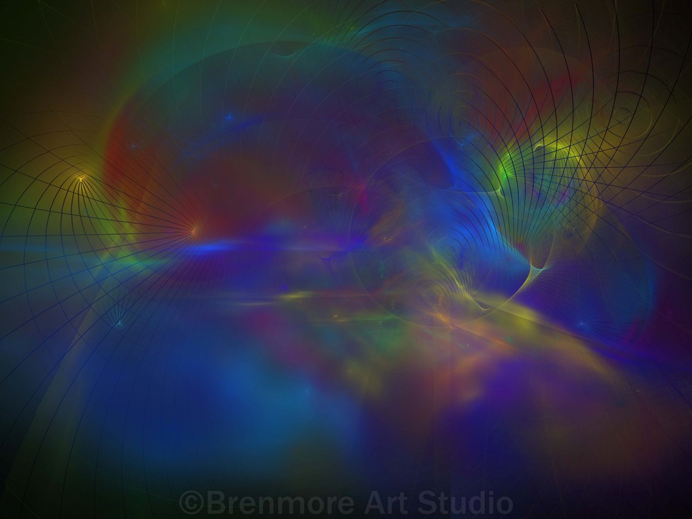 Abstract in Rainbow Colors