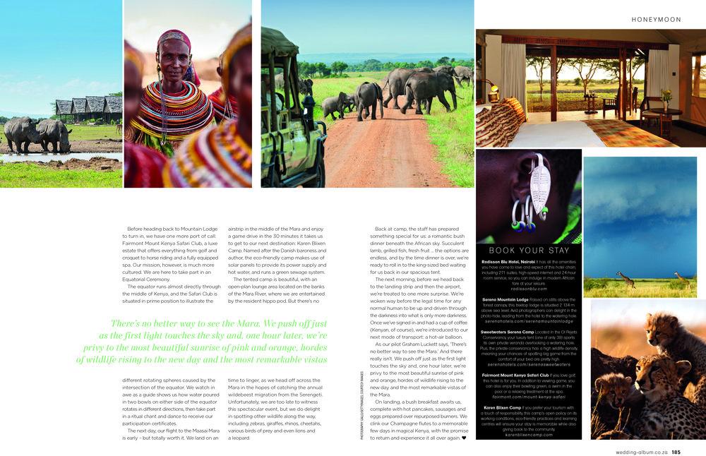 David & Radcliffe –Words – We dreamed of Africa