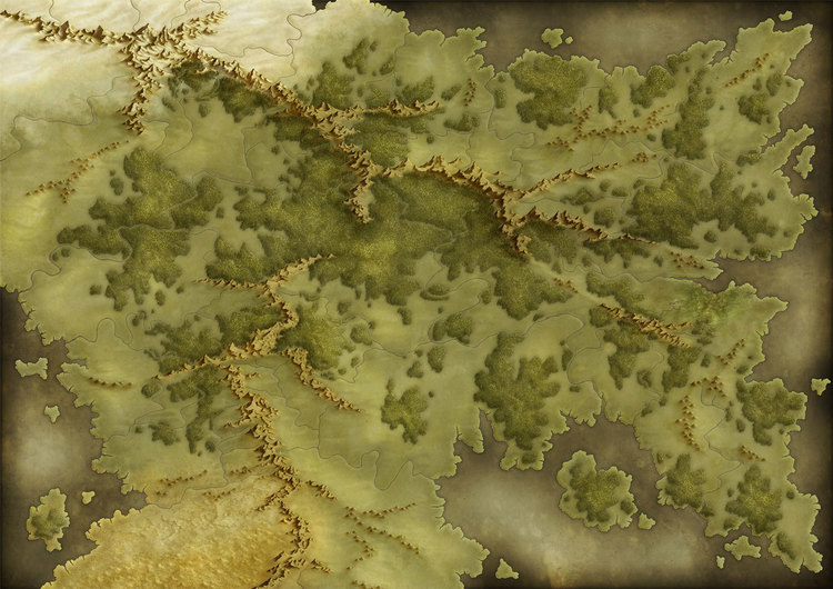 Under development hex map terrain generation archmage rises i wanted the map to feel like the ones in my dragonlance or forgotten realms campaign source books the concept was the map was set but the locations of gumiabroncs Gallery
