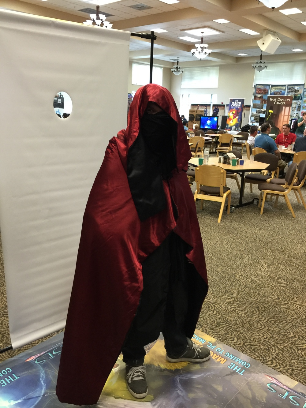 Our first Archmage cosplayer!  I was in total shock someone would dress up as the Archmage!