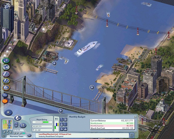 Sim City 4.  The good Sim City.