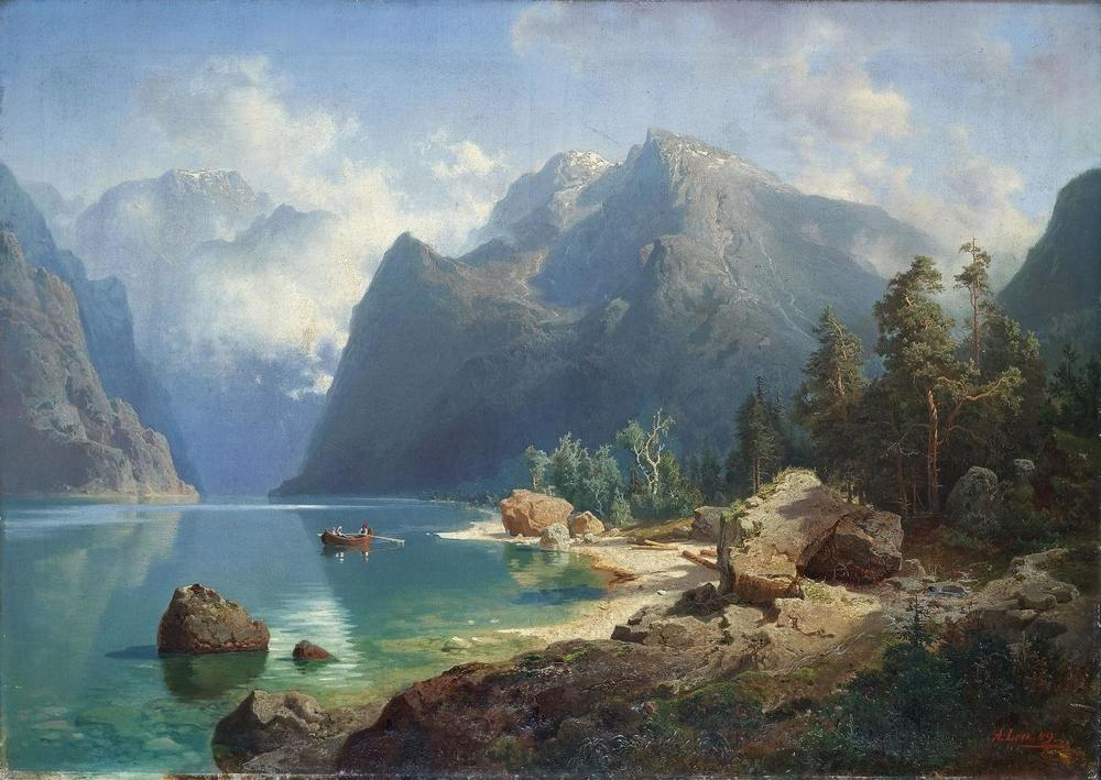 Norwegian Fjord Study by August Vilhelm Lou