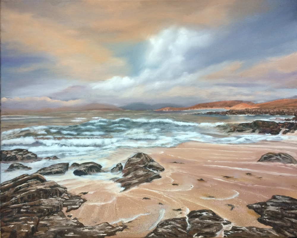 Classical Art Academy Students First Studies Oil Painting Seascape