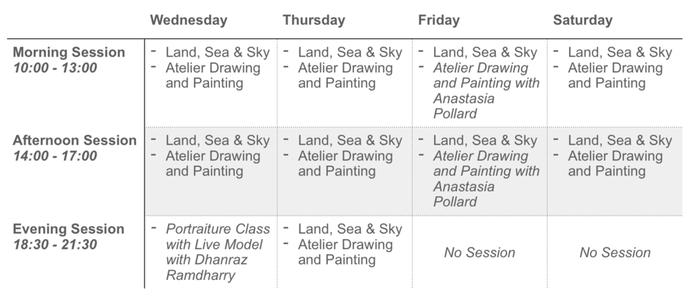 Classical Art Academy Weekly Schedule 2019.png