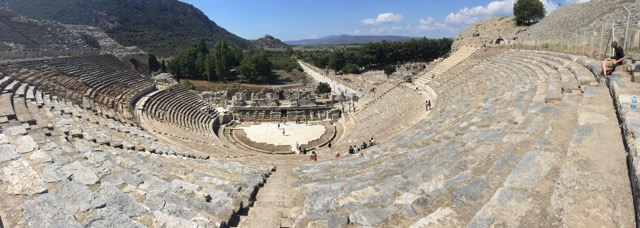 The amphitheater in Ephesus