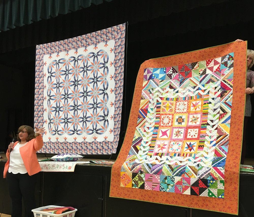 2 of the quilts in Tina Craig's Trunk show