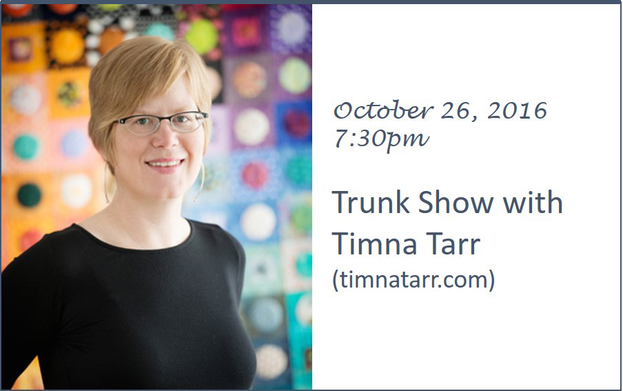 Timna Tarr - Trunk Show October 26, 2016