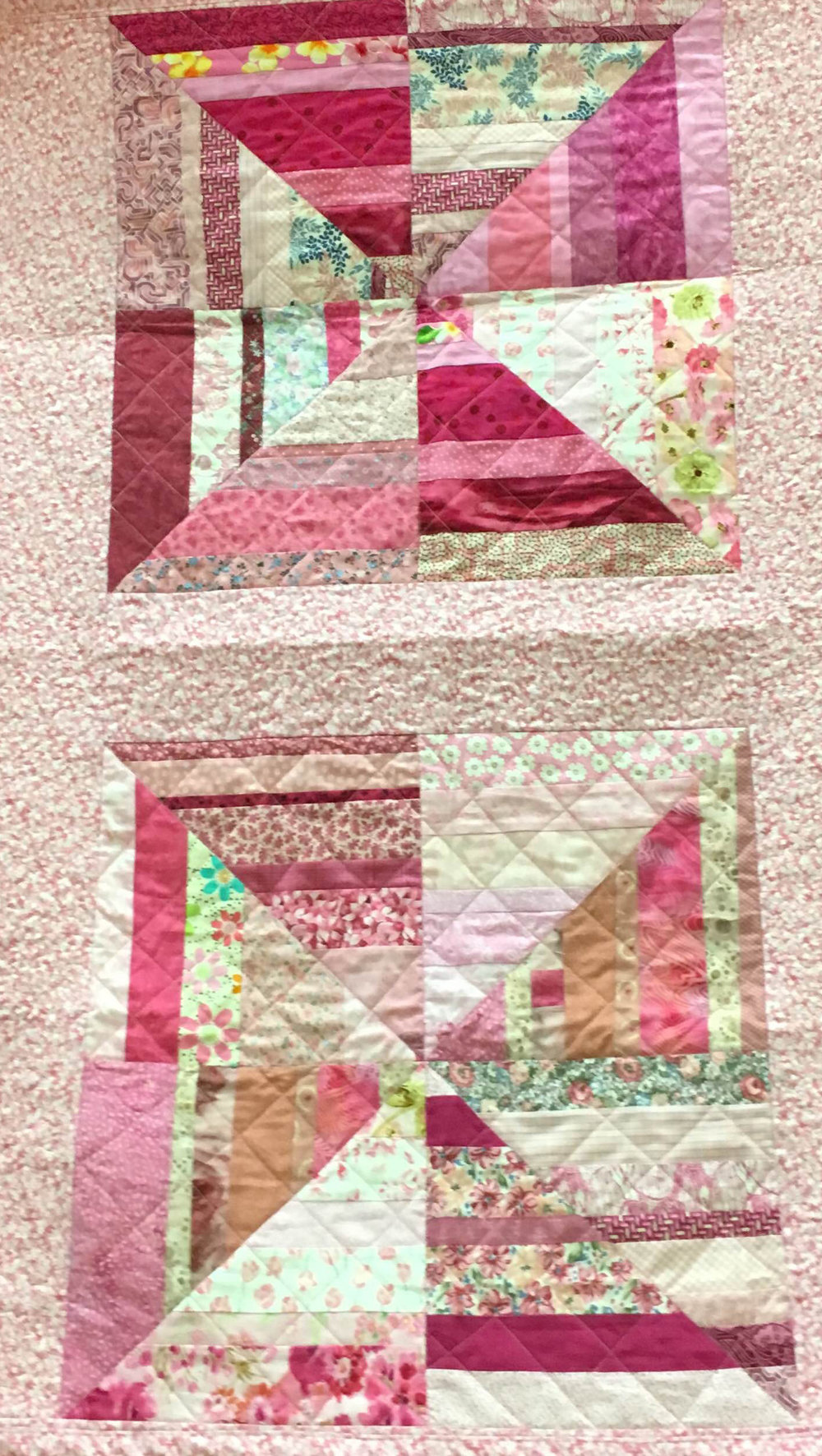 Pink block of the month by Lois H
