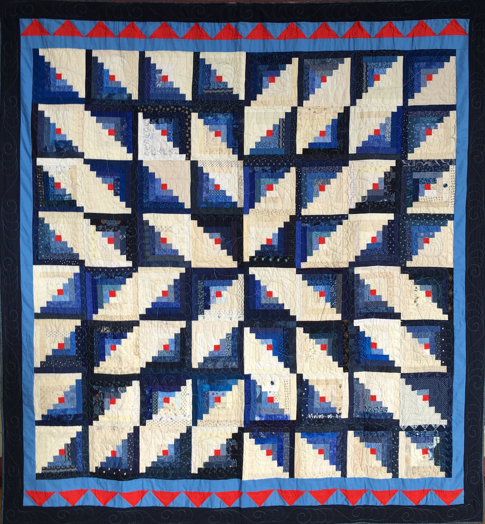 PBQ Raffle Quilt - Pieced by PBQ members and quilted by PBQ member Diadem Washburn