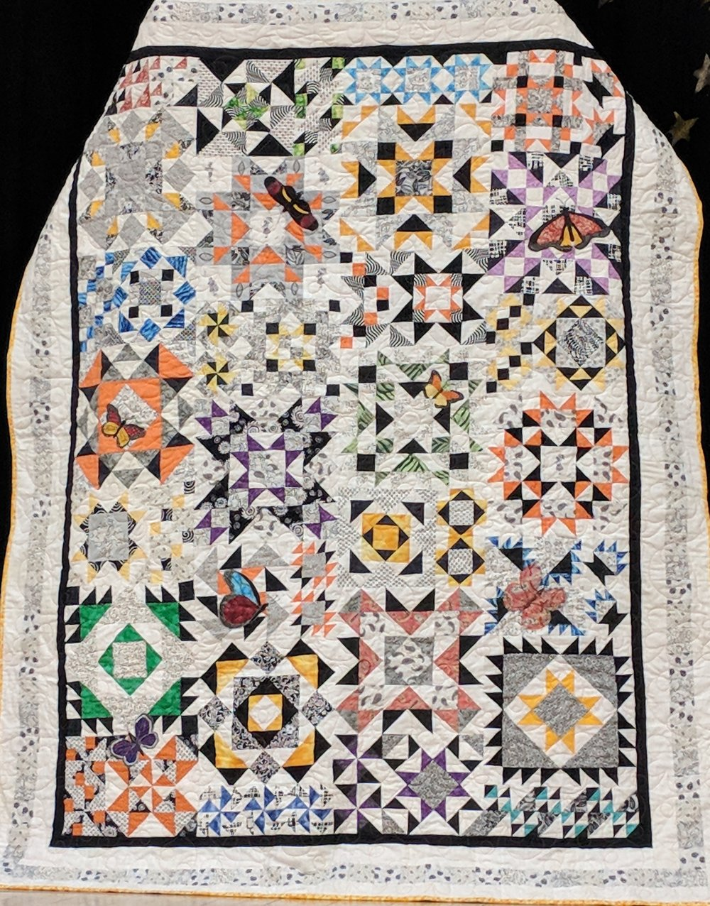 Quilt, left undone when a friend died, finished by Annie D-J and other friends