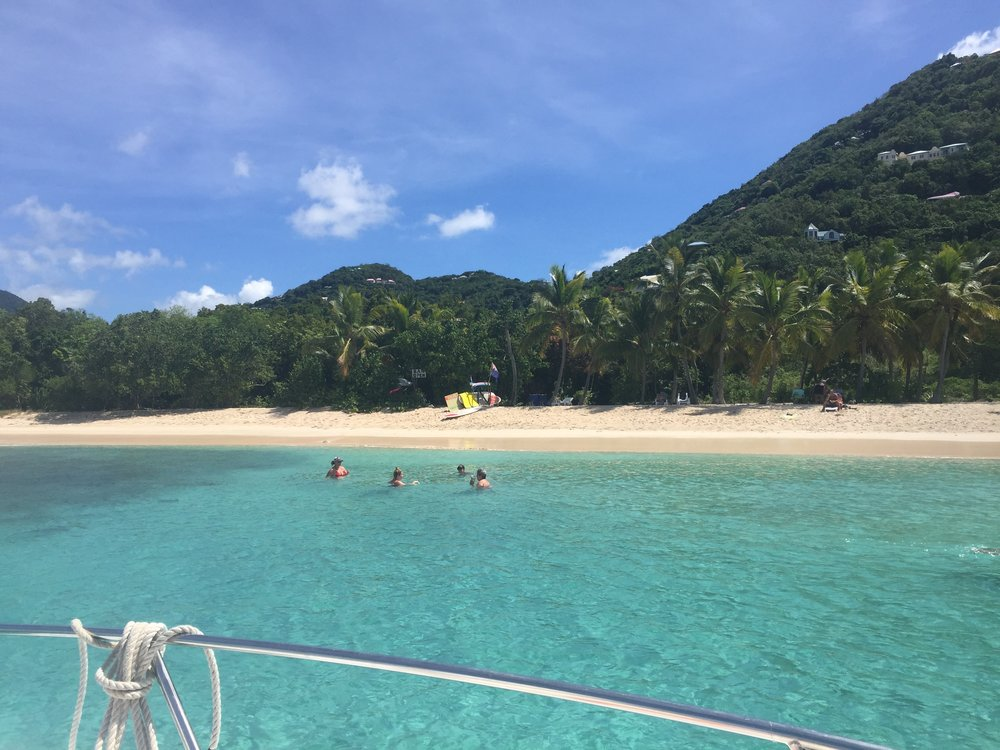 On the Sea Charters can take you to many remote or popular spots, like Smuggler's Cove in Tortola. Call Captain Ryan to book your trip today!    (850) 339-8113
