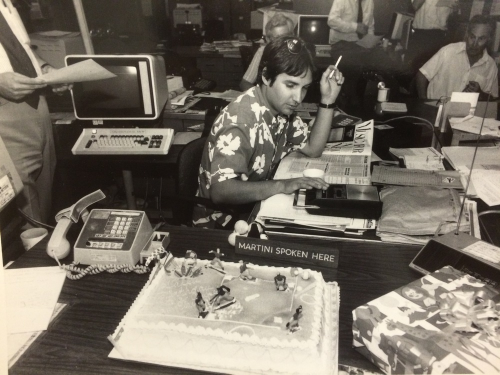 Tim Grobaty in the Press-Telegram newsroom: July 7, 1985