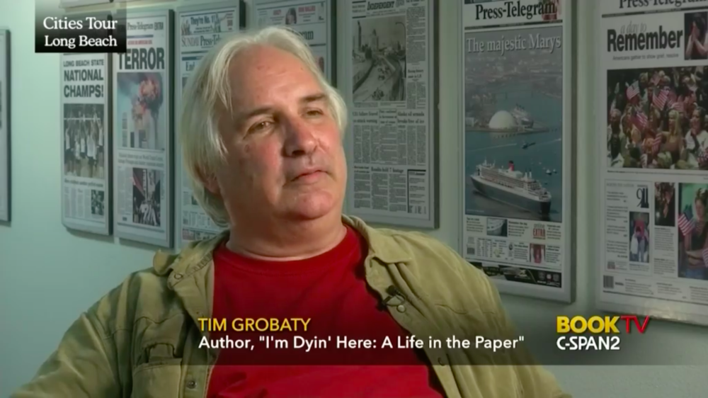 Click the image aboveto see Tim on C-SPAN 2's Book TV, talking about I'm Dyin' Here: A Life in the Paper.