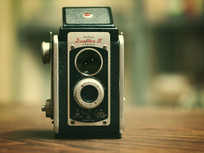 Vintage Kodak Duaflex III Camera | Raleigh, North Carolina | © Christy Hydeck