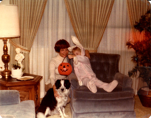 Halloween 1977 - Pittsburgh, Pennsylvania. Dinky was the best dog ever!