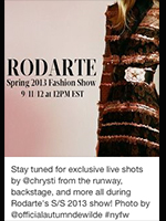 Rodarte SS 2013 Live Instagram Coverage