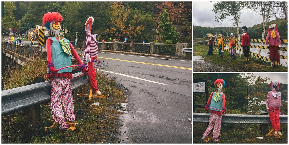 Creepy Clowns! // 2016 Mahone Bay Scarecrow Festival // Nova Scotia, Canada //© Christy Hydeck
