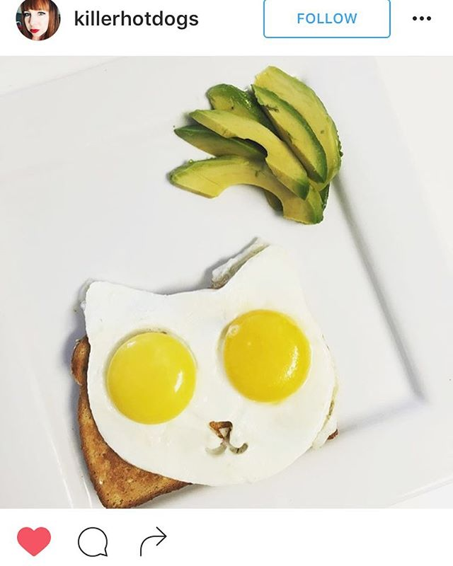 @killerhotdogs Wow, that #categg is purrfect!! Avocado egg toast with a special twist 😊 #categg #categgmold  www.eggaddiction.com PROMO CODE: INSTA25 #eggaddiction