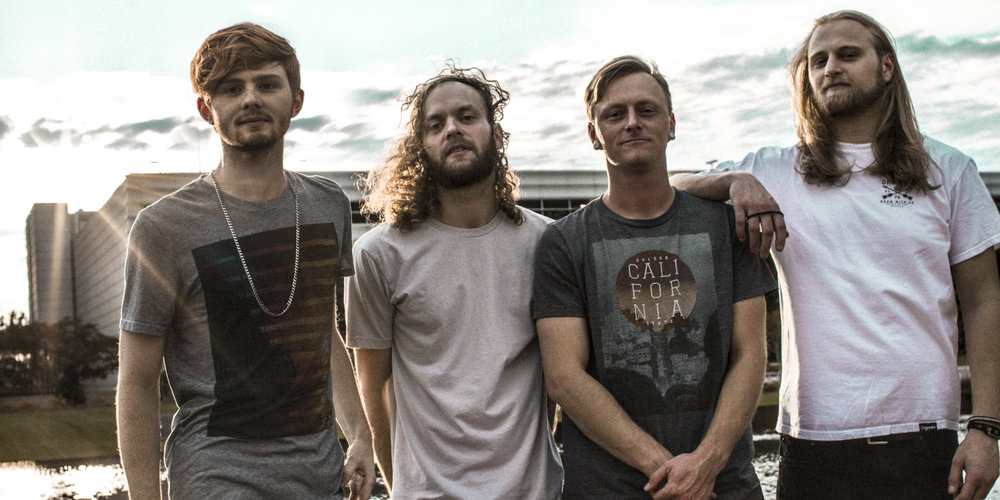 From Left to Right: Tyler Menon (Drums), Jesse Olsen (Bass), Andrew Mericle (Guitar), Ben Beddick (Vocals)