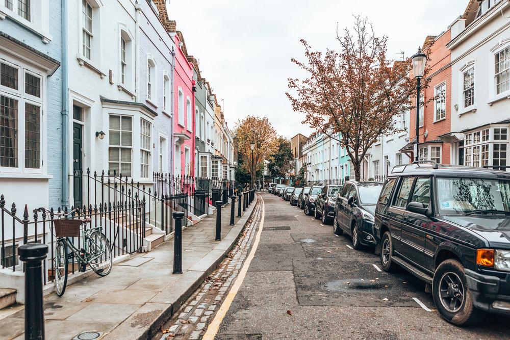 The colorful neighborhoods of Chelsea.