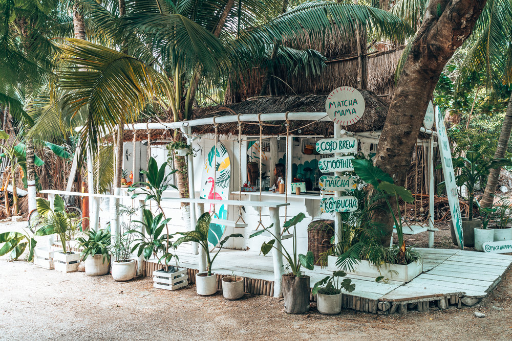 Swings in the jungle at the Matcha Mama bar in Tulum, the perfect place to relax after a full day of exploring the best things to do in the Mayan Riviera! #Yucatan