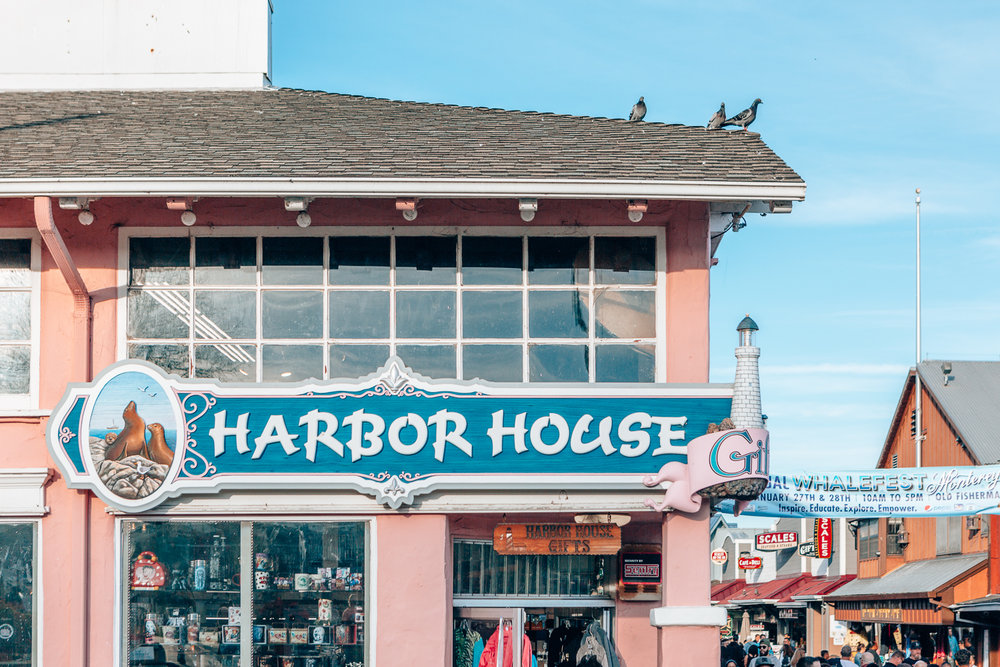 Old Fisherman's Wharf, Monterey, California - A perfect stop on our way to our Californian coast road trip to Big Sur and Carmel!