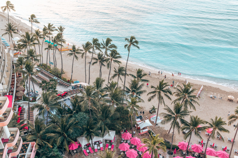 Pink umbrellas and dipping your toes in the sand of Waikiki Beach are just two of the things that make The Royal Hawaiian the best hotel resort in Oahu. It's not exactly one of Hawaii's secrets, as this spa hotel is considered the most iconic resort in Oahu.