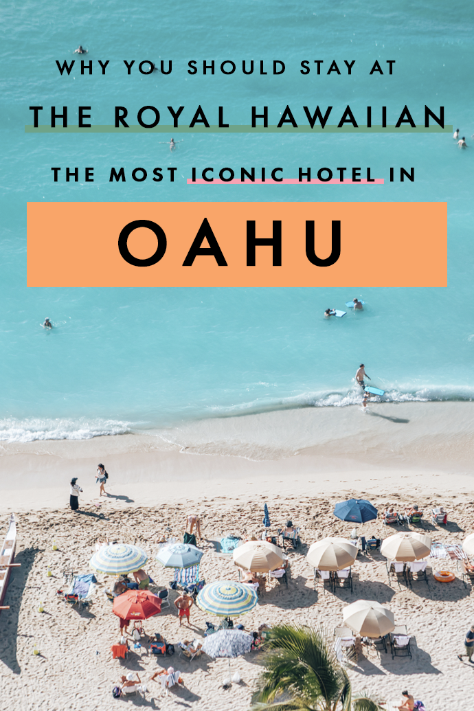 The Royal Hawaiian, also known as the Pink Palace of the Pacific, is undoubtedly the most iconic hotel in Hawaii. Planning your trip and looking for the perfect hotel to stay in Oahu? Here are all the reasons you need to make the Royal Hawaiian your base in Hawaii! #Hawaii #Oahu #HotelsHawaii #RoyalHawaiian