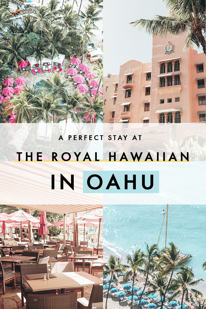 Love pink, perfect azure beaches, and luxury? You need to stay at The Royal Hawaiian when you travel to Hawaii! Here are all the reasons why my stay at the Pink Palace was as perfect as Hawaii's landscapes! #Hawaii #RoyalHawaiian #PinkHotel #Oahu