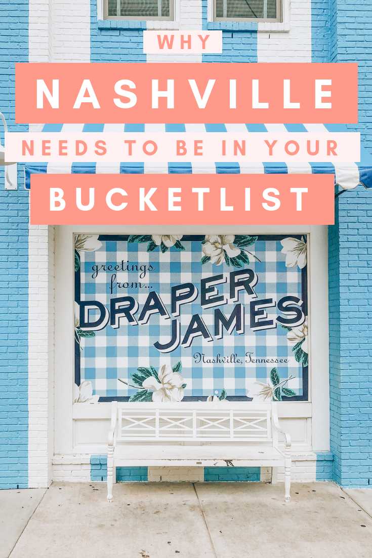Quaint storefronts, charming and vibrant neighborhoods, and endless music filling up the air, here are all the reasons Nashville needs to be in your USA bucket list! #Travel #Nashville #Tennessee #USATravel #USADestinations