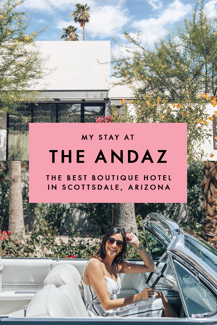 It's no secret that I'm a sucker for boutique hotels and while in Scottsdale, Arizona, I stayed at one of my favorite ones ever! Here's my recommendation on the best hotel in Scottsdale to make the most out of your time in this charming Arizona town. #Scottsdale #Arizona #ArizonaRoadTrip